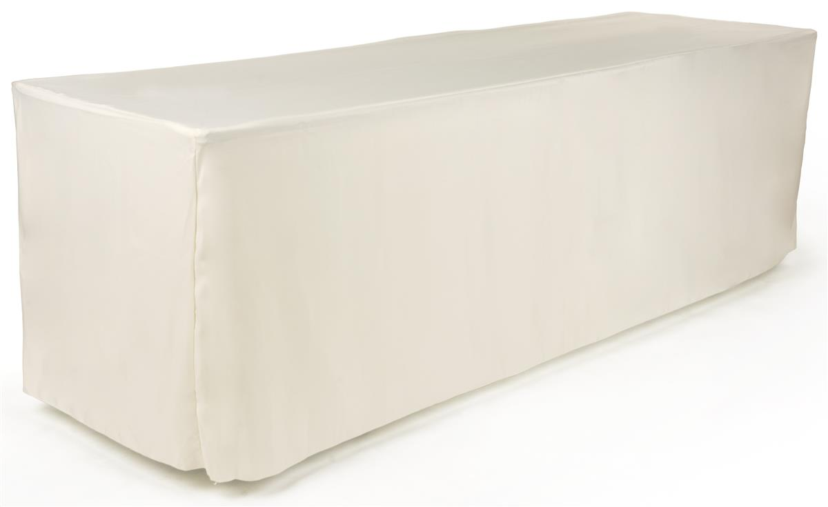 Displays2go 8-foot Fitted Table Cloth - Ivory