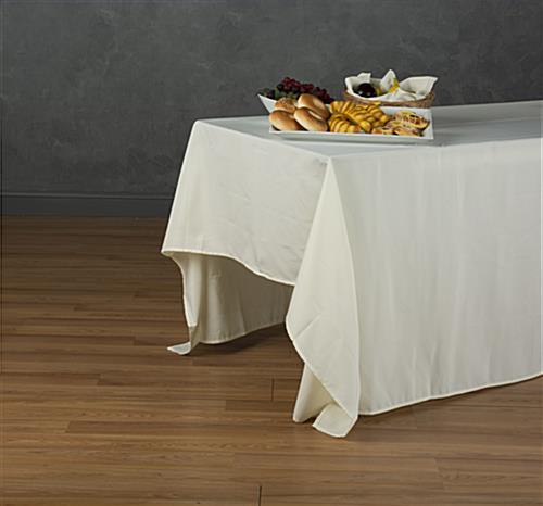 rectangular tablecloth 132 ivory linen. Black Bedroom Furniture Sets. Home Design Ideas