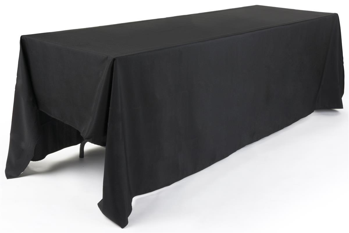 Rectangular Tablecloth 132 Long In Black