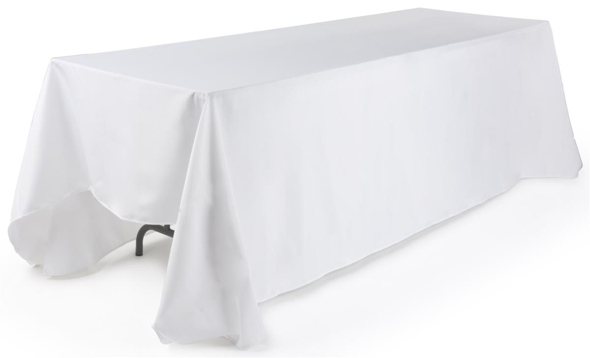 White Rectangular Tablecloth 132 Table Cover