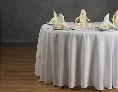 Round Dining Table Cloth Ivory Linen With 108 Quot Diameter