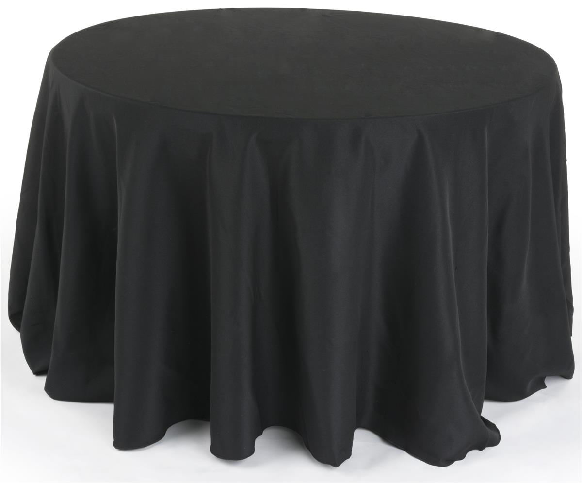 Black Round Dining Table Cloth Wedding Linens
