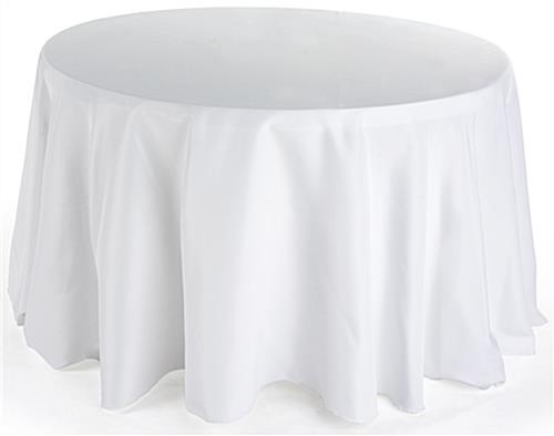 round dining table cloth ivory linen with 108 diameter