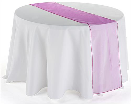 108 inch table runner fuchsia organza for 108 inch table runner