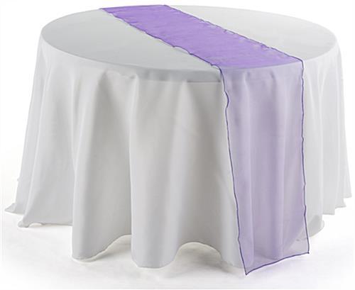 108 inch table runner purple table linen for 108 inch table runner