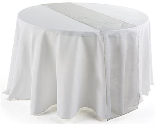 108 inch silver table runner for elegant event tables for 108 inch table runners