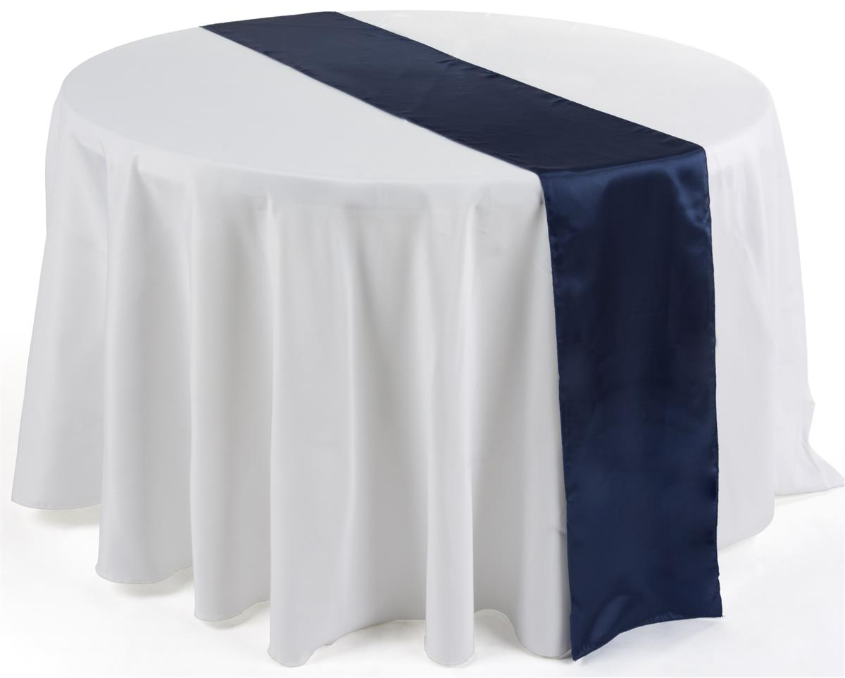 "Displays2go 12"" x 108"" Satin Table Runner, Set of 10 - Na..."