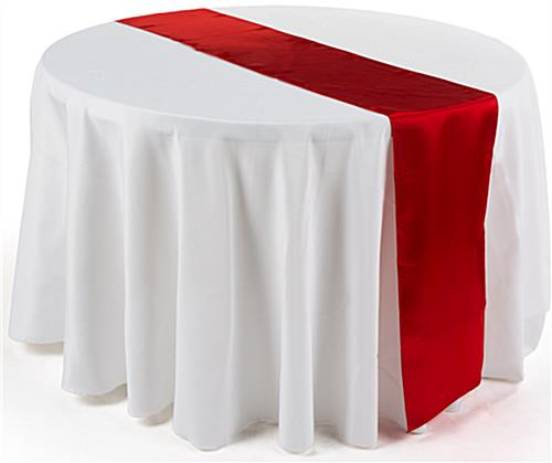 Red Satin Table Runners 12 X 108 Banquet Linens