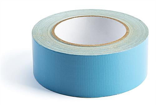 Portable rollable vinyl event flooring with double sided tape
