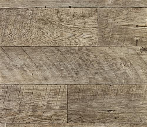 Rustic faux barnboard trade show flex vinyl flooring roll in Odessa 09
