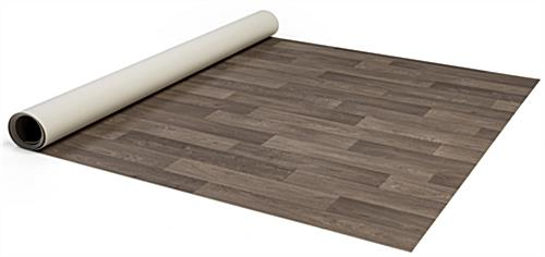Portable rollable vinyl event flooring in convenient 5ft wide by 10ft long strips