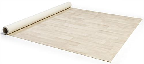 Roll up vinyl exhibit flooring in convenient 5ft wide by 10ft long strips