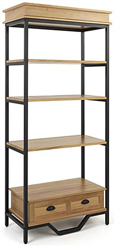 75 inch tall french industrial bookshelf etagere