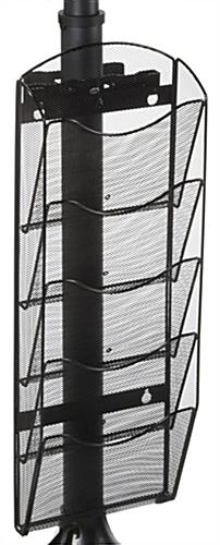 Mesh Literature Rack with Five Tiers