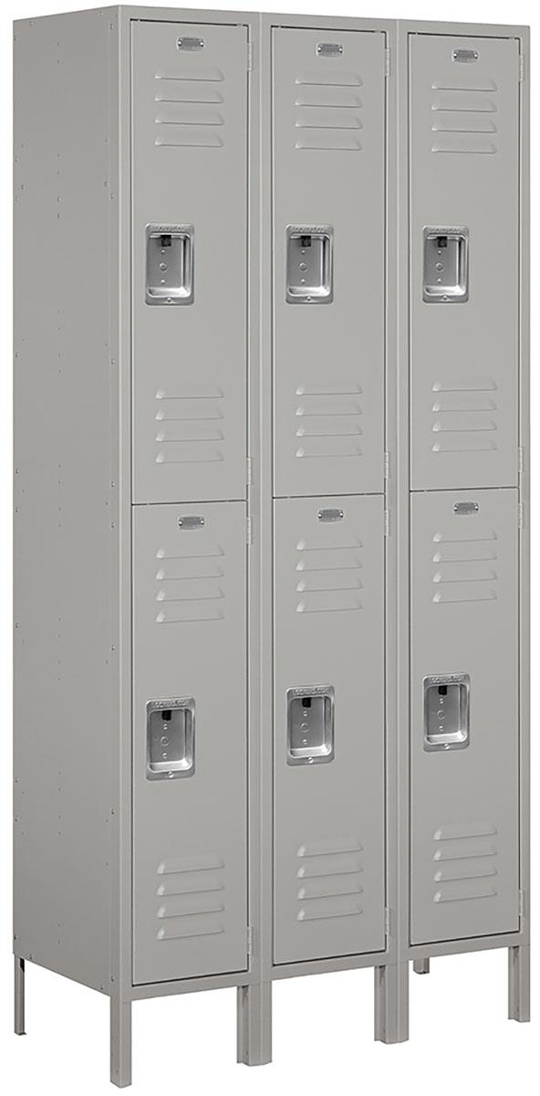 Double Tier Work Locker Ventilated With Louvers
