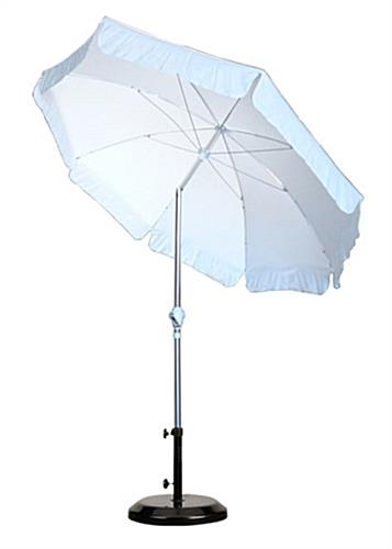 Patio Umbrella Crank Diagram: 7.5' White Patio Umbrella