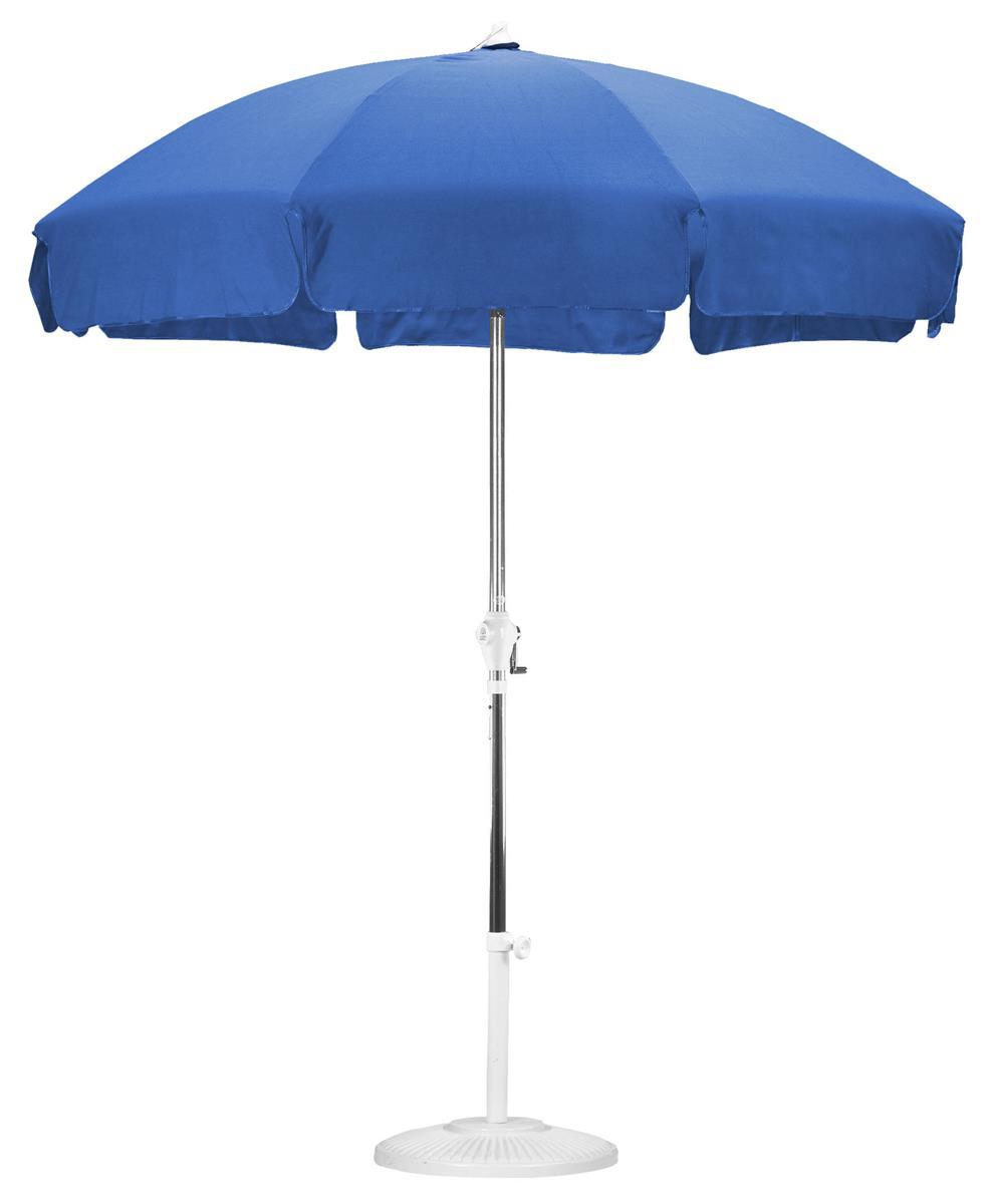 7 5 Royal Blue Patio Umbrella With Push Tilt Feature