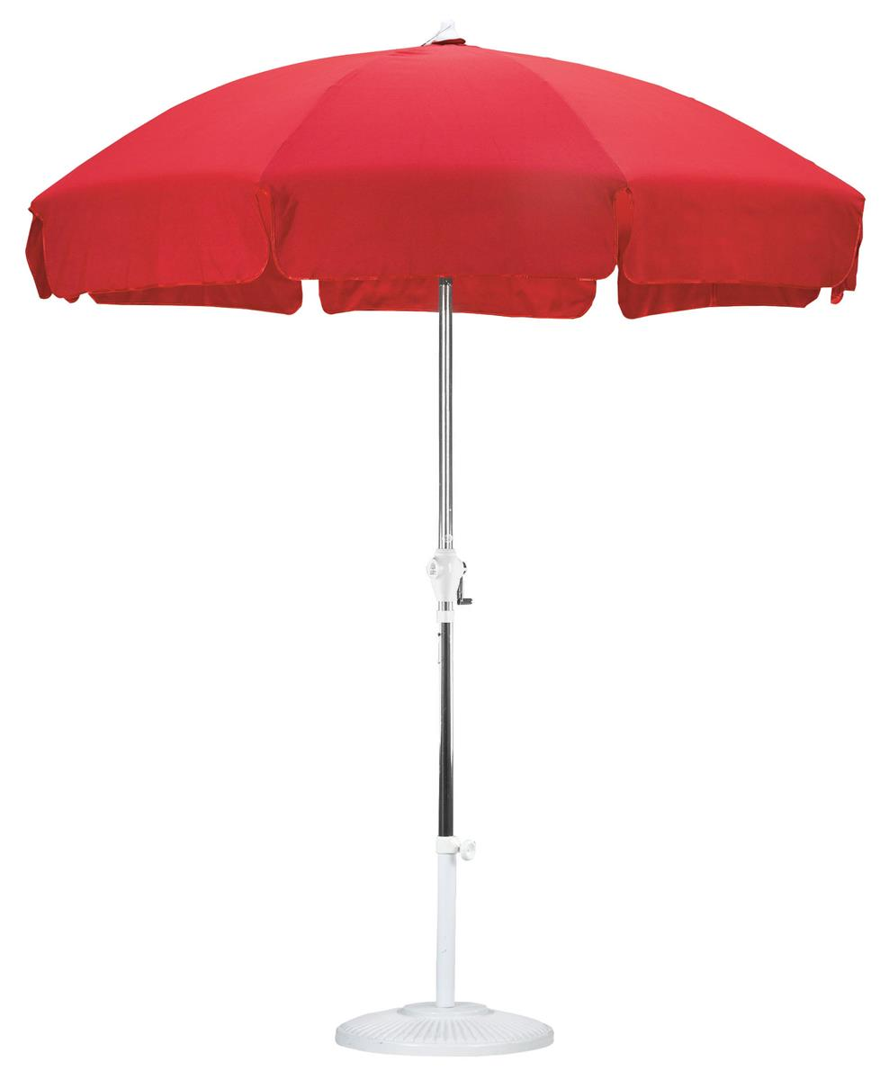 7 5 Red Patio Umbrella For Outdoor Use