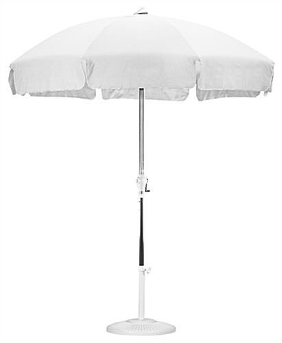 white patio umbrella push tilt mechanism