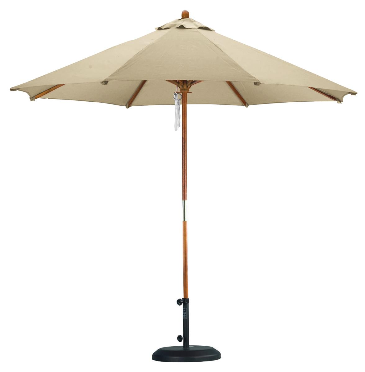 9 39 Market Umbrella In Antique Beige For Outdoor Use