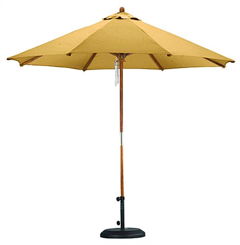 Yellow Umbrella Stand: 9' Yellow Market Umbrella