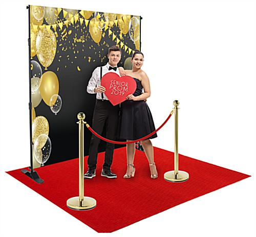 Step and repeat red carpet kit with hardware included for aluminum frame