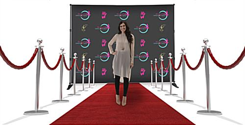 Custom event step and repeat backdrop for important events