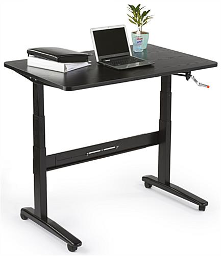 Hand Operated Manual Sit Stand Desk