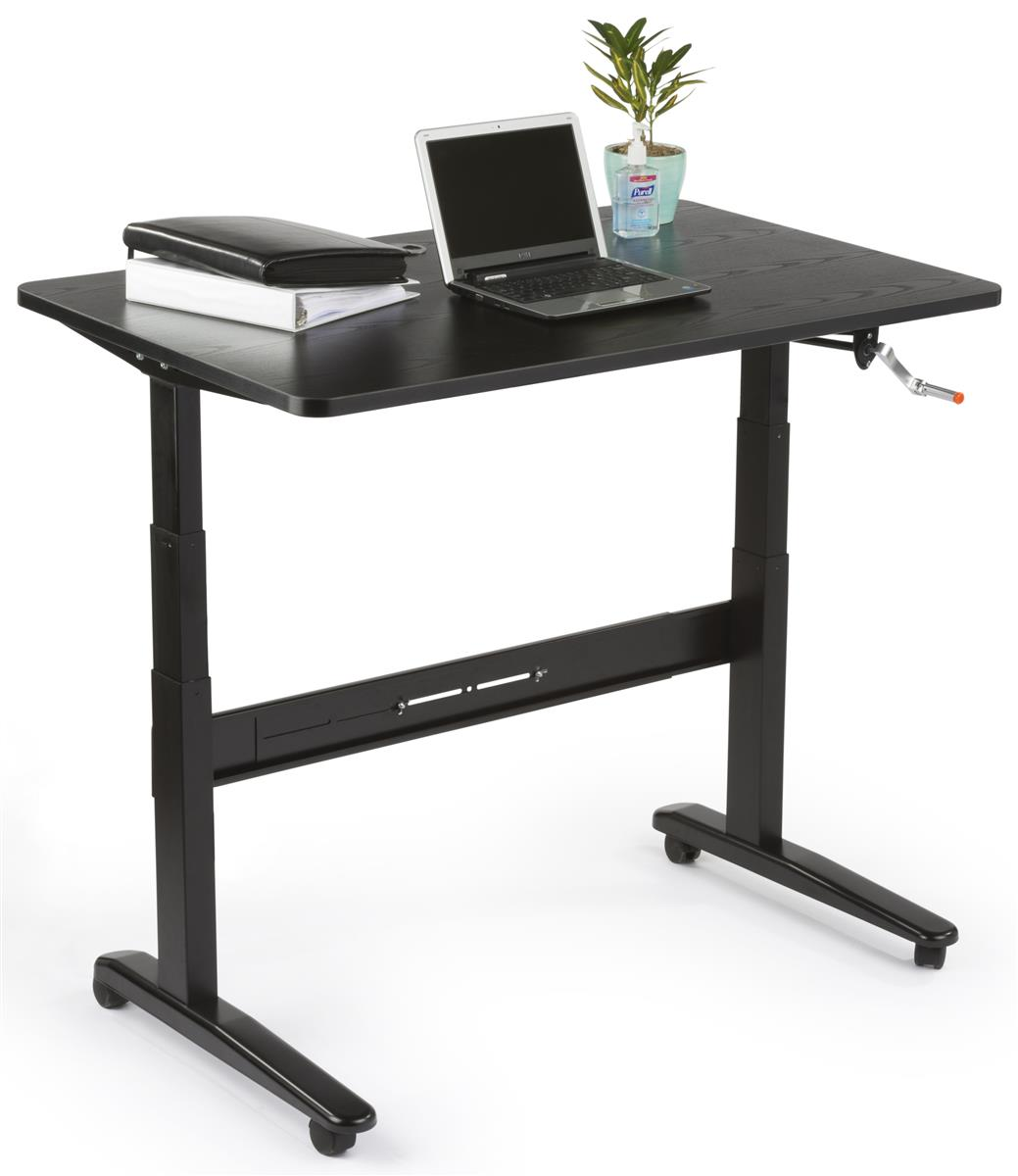Manual Sit Stand Desk 48 X 30 Tabletop