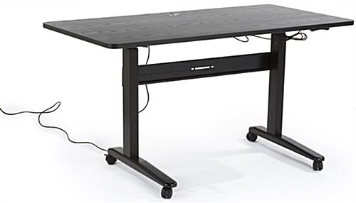 "24"" - 49"" Height Adjustable Electric Sit Stand Desk"