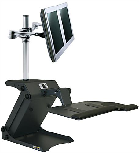 Dual Monitor Standing Desk with Electric Adjustment