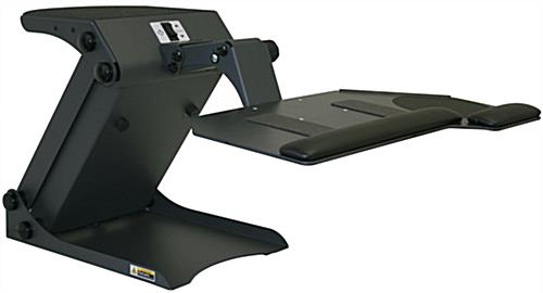 Black Table Mounted Ergonomic Desk