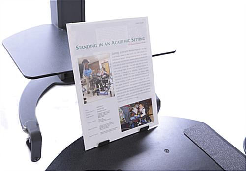 Manual Sit-Stand System with Copy Holder