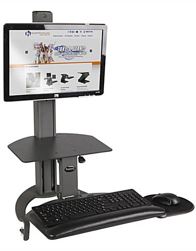 Manual Sit-Stand System, Keyboard Tray