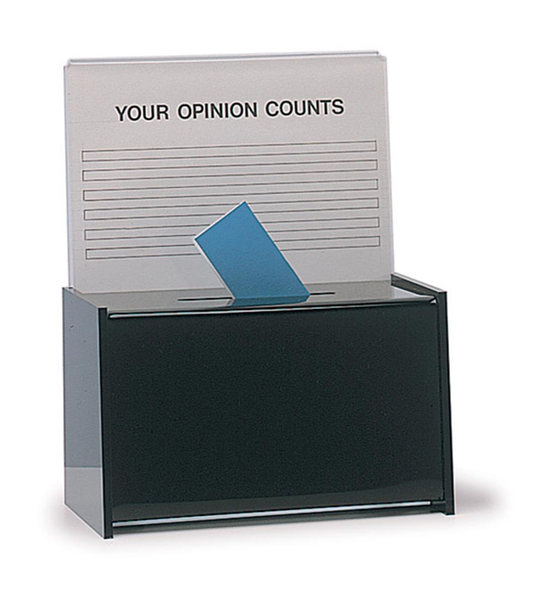 Office Suggestion Box Black Acrylic W Sign Header
