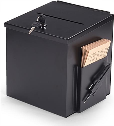 Black Suggestion Box With Suggestion Card Pocket Amp Pen