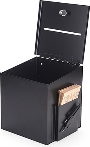 Black Suggestion Box with Large Interior