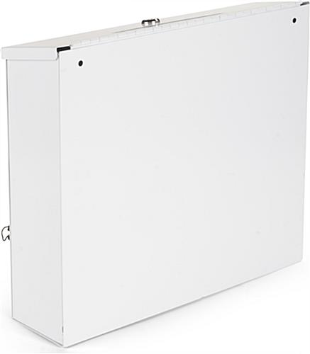 Wall Mounting White Donation Box