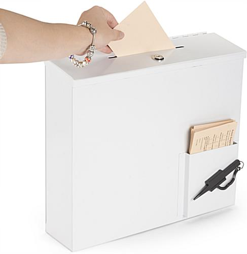 White Donation Box for Offices