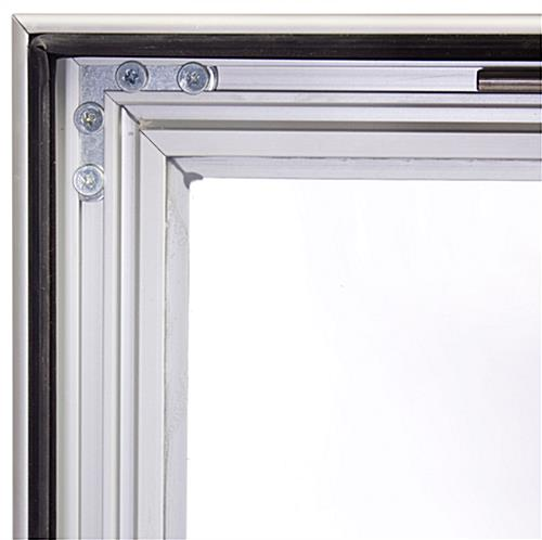 36 x 48 Outdoor Poster Frame for Wall, Swing Door with Gasket - Silver