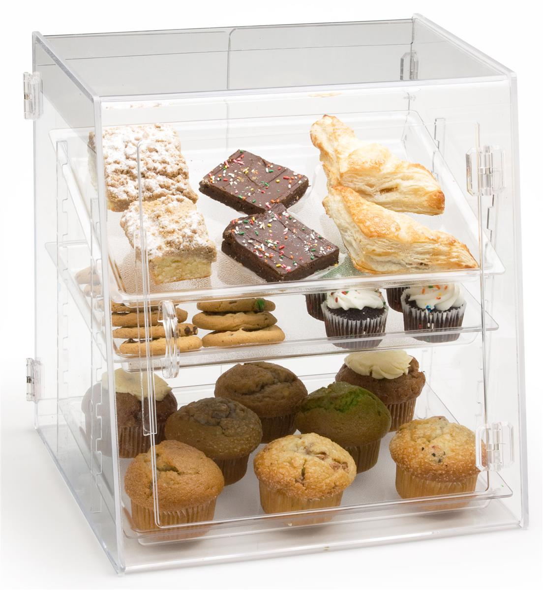 Front Amp Rear Loading Bakery Display Removable Trays