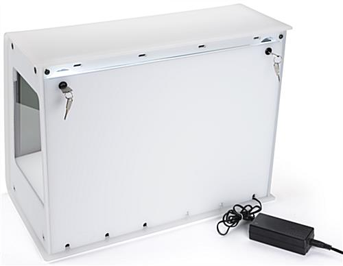 Transparent LCD Box with Key Locks