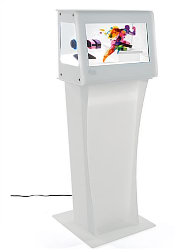 Clear LCD Display with Freestanding Design