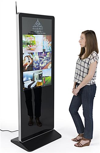 "43"" Digital Advertising Floor Stand Display with 1 Year Warranty"
