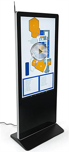 "55"" Digital Display Advertising Floor Stand with 178°/178° Viewing Angle"