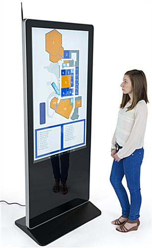 "55"" Digital Display Advertising System with Tempered Glass Faceplate"