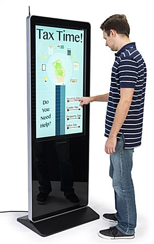 "43"" multimedia advertising kiosk with HDMI port"