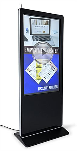 "55"" advertising multimedia kiosk with full HD 1080p resolution"