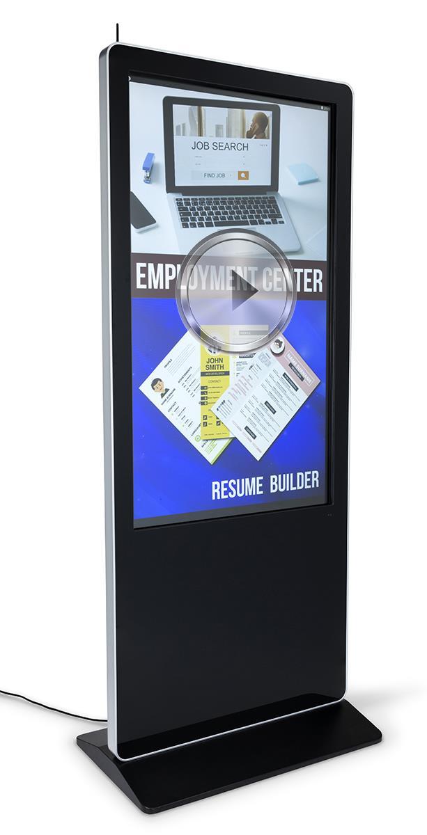 55 Quot Advertising Multimedia Kiosk 10pt Ir Touchscreen Panel