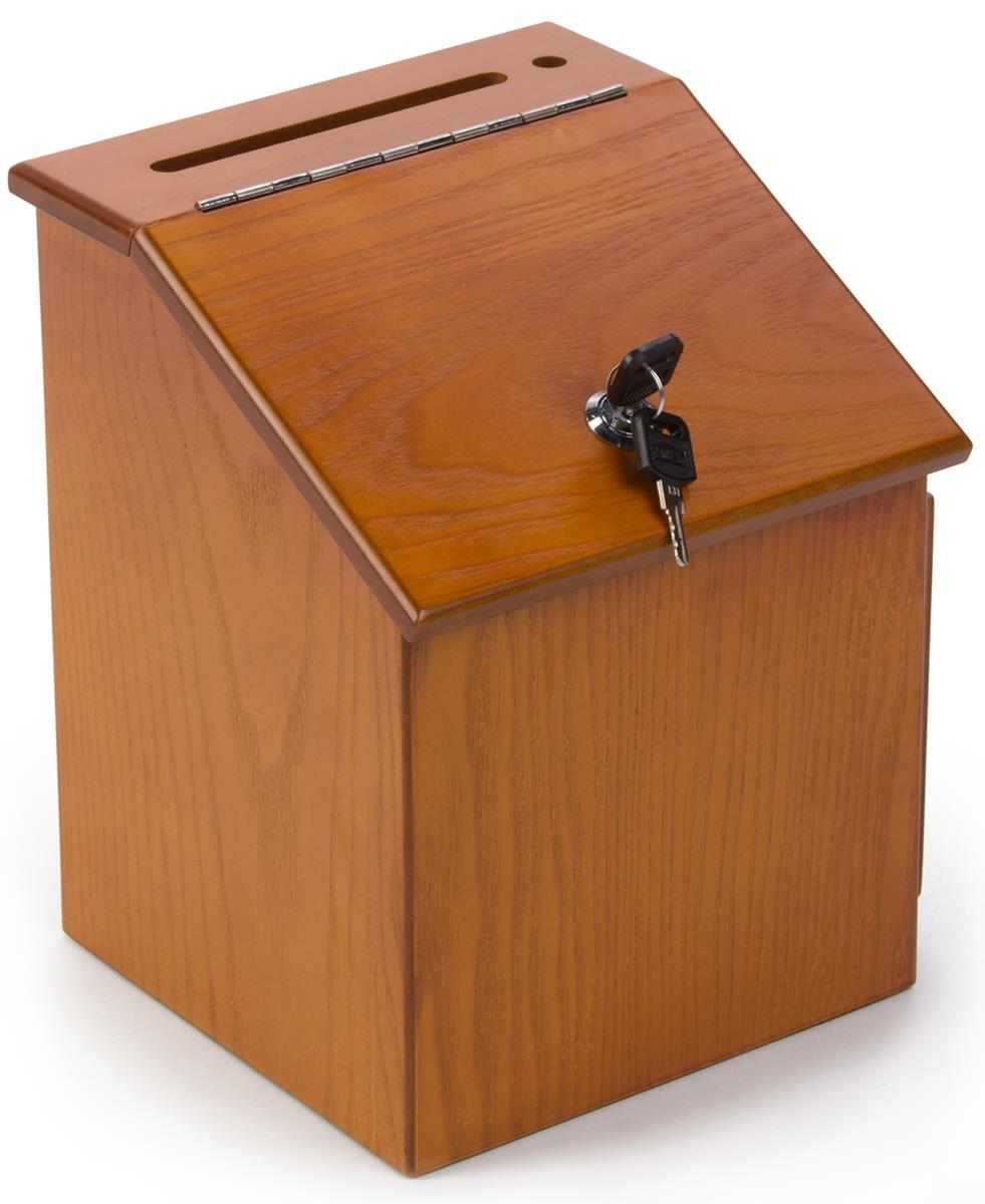 Wooden Comment Box Locking Door Amp Ballot Pocket